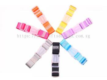 Candy Color Adjustable Buckle Luggage Belt Straps