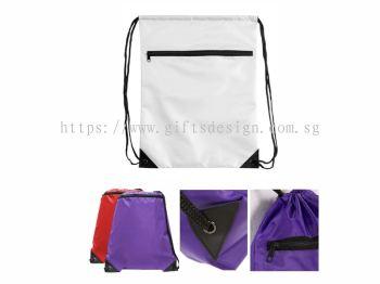 Value Zipper Drawstring Bag