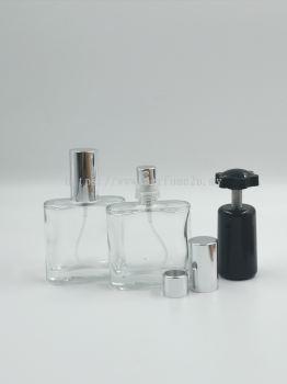 PERFUME BOTTLE (30ML) CLEAR CRIMP NECK