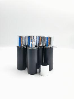 PERFUME BOTTLE (35ML) MATTE BLACK SCREW NECK