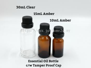 ESSENTIAL OIL BOTTLE WITH TEMPERED PROOF CAP
