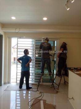 Sliding Grill Door @Jalan Goodview Height, Sungai Long, Kajang, Selangor