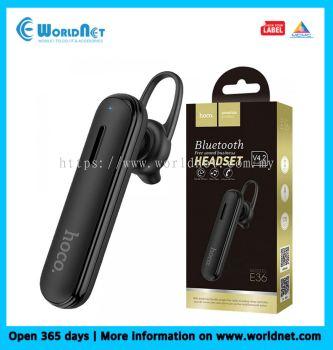 HOCO E36 FREE SOUND BUSINESS WIRELESS HEADSET(BLACK)