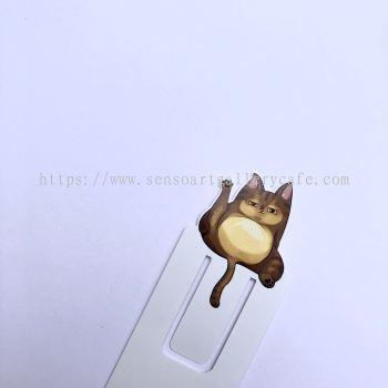 Brown Cat Bookmark