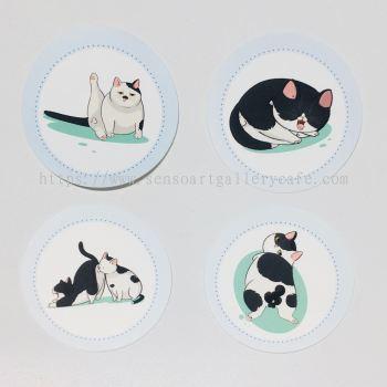 Bulat Cat Sticker (4 pcs)