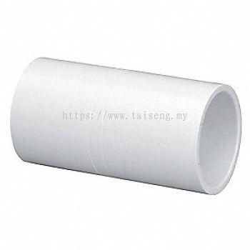 PVC Pipe Socket (White)