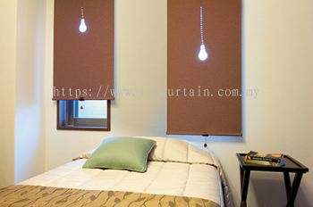 TOSO Premium Japanese Blackout Chocolate Roller Blind