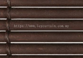 One Inch Outdoor Wood Blind- Teak Oil Walnut