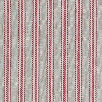 Stripe Curtain Linen Field Canton 21 Berry