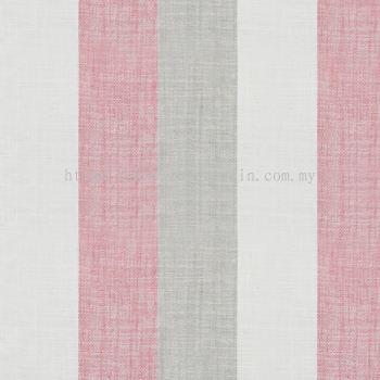 Stripe Curtain Linen Field Esplanade 18 Berry