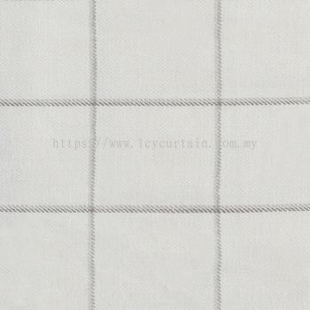 Checked Curtain Linen Field Meadow 33 Natural