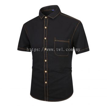 Denim Short Sleeve Uniform