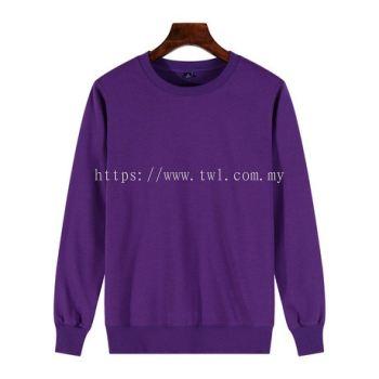 025 Baju Sweater Terry Plain