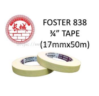 "Foster 838 3/4"" Masking Tape (17mmx50m)- 1 Roll"