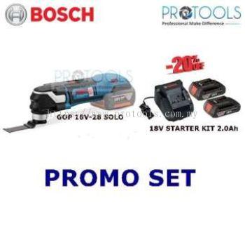 BOSCH GOP 18V-28 CORDLESS MULTI-CUTTER SOLO + 18V STARTER KIT 2.0Ah
