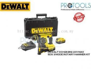 DEWALT DCH253M2 20V MAX * SDS 3 MODE ROTARY HAMMER KIT - 3 YEARS WARRANTY