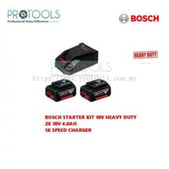 BOSCH STARTER KIT (2 PCS 18V 4.0h BATTERY & 1 PCS AL1860CV CHARGER)