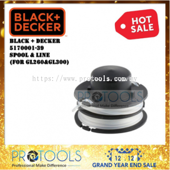 BLACK + DECLER 5170001-39 SPOOL & LINE FOR GL260 AND GL300