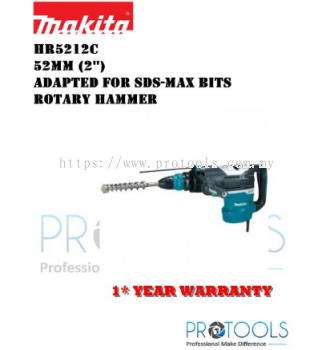 MAKITA HR5212C 52mm (2��) Adapted for SDS-MAX bits Rotary Hammer- 1 YEAR WARRANTY
