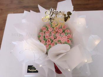 ��ɫϵ���ֻ�������(Lady pink bouquet cake)