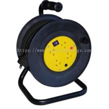 4 Way Industrial Cable Reel - Australian Standard - 230V x 25M (TMET8013025A)