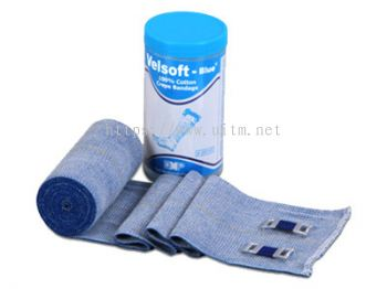 Velsoft®-Blue Short Stretch Compression Bandage