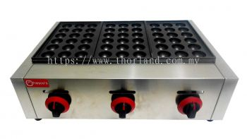 Takoyaki Machine Gas 3 Plate Big Holes 45mm