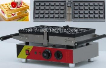 Waffle Two Rectangle Maker Machine Electric Flip Electric