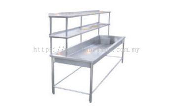 Big Bowl Sink C/W 2 Tier Overshelf