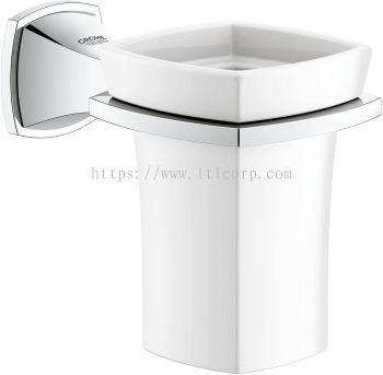 Grohe Grandera 40626000 Holder with Ceramic Tumbler