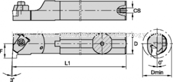 GROOVE AND PARTING - INTERNAL TOP GROOVE BORING BAR
