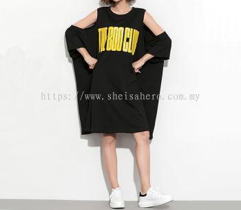 Korean Oversize Sexy T shirt Dress 80687