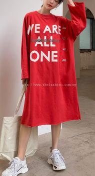 SHEISAHERO KOREA - T-shirt Dress 801234