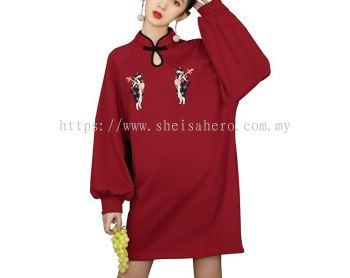 Japanese Fashion Chinese Collar Dress 801239