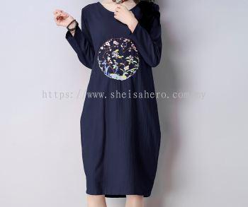 Sheisahero Korea - Linen Dress 801241
