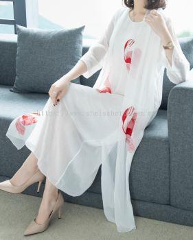 SHEISAHERO KOREA - Embroidery Dress 880129