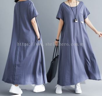 SHEISAHERO KOREA - T-shirt Dress 880127