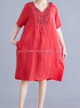 SHEISAHERO KOREA - Embroidery Dress 880151