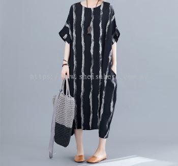 Sheisahero Korea - Linen Dress 880153