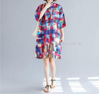 Sheisahero Korea - Linen Dress 880155