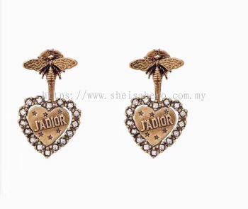 J'ADIOR DIAMOND EARRINGS ANTIQUE GOLD FINISH 880712