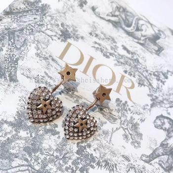 J'ADIOR EARRINGS ANTIQUE GOLD FINISH Heart Diamond 880715