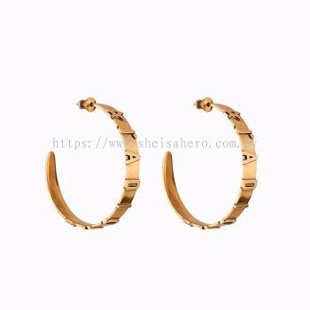 J'ADIOR EARRINGS ANTIQUE GOLD FINISH 880719
