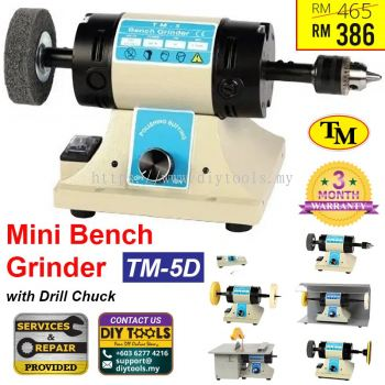 TM Mini Bench Grinder with Drill Chuck TM-5D