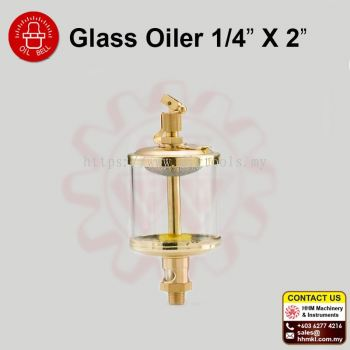 "OIL BELL Glass Oiler 1/4"" X2"""