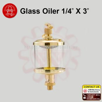 "OIL BELL Glass Oiler 1/4"" X 3"""