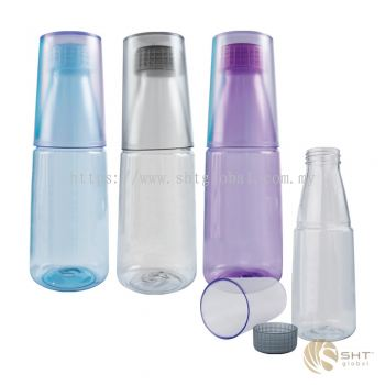 PLASTIC BOTTLE WITH CUP - SB 336