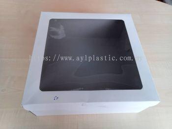 PAPER CAKE BOX WITH WINDOW - WHITE (12X12X5)