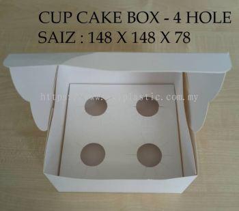 CUP CAKE BOX - 4 HOLE (148X148X78)