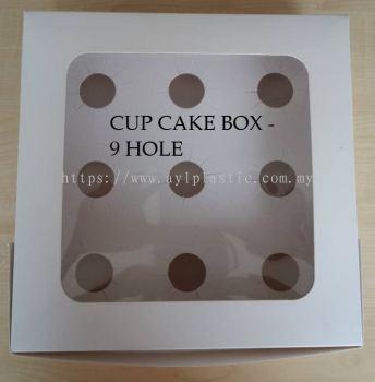 CUP CAKE BOX - 9 HOLE